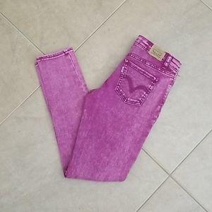 Pink Levi's 710 Lowrise Skinny Jeans